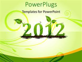 Colorful slide set having the celebration of happy new year 2012