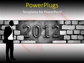 Beautiful PPT theme with the celebration of the new year 2012