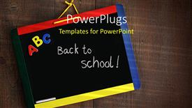 PPT layouts having a blackboard with a wooden background