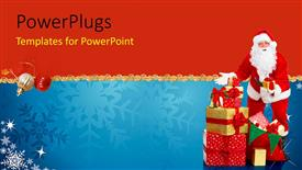 Royalty free PowerPlugs: PowerPoint template - Santa_With_Gifts_co_43