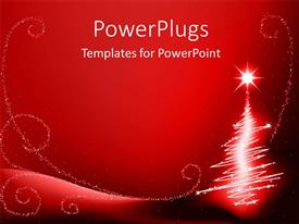 Beautiful presentation with the Christmas celebration with reddish background