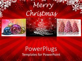 Amazing slides consisting of christmas celebration with trees and other celebration material