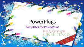 Elegant slide set enhanced with a white colored envelope with some christmas ornaments and text