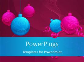 Audience pleasing PPT layouts featuring christmas and new year concept with colorful ornaments and ribbons