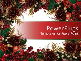 5000 Green Christmas Powerpoint Templates W Green Christmas Themed