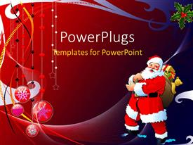 Beautiful PPT layouts with a Christmas related background with a Santa