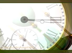 Amazing theme consisting of a clock with a grayish background and place for text