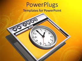 Amazing PPT layouts consisting of a clock with an orange background