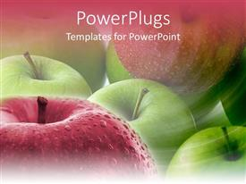 5000 apple pie powerpoint templates w apple pie themed backgrounds colorful presentation design having close up shot of lots of green and red apples toneelgroepblik Choice Image