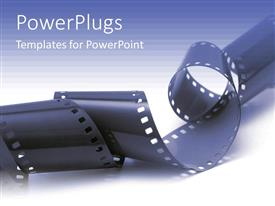 PPT theme featuring close up view of a roll of black film