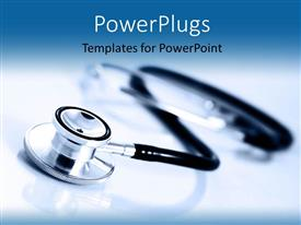 Audience pleasing PPT theme featuring a close up view of a stethoscope on a plain surface