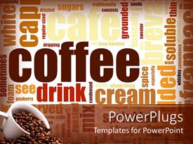 PPT layouts featuring coffee grains abstract background collage of coffee ingredients