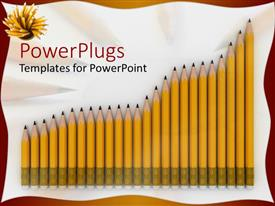 PPT layouts featuring a collection of lead pencils in the form if a graph