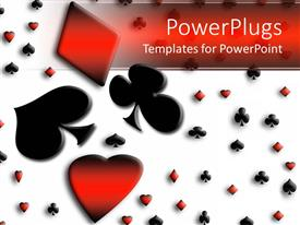 Colorful PPT theme having colored playing card symbols, spade, love and diamond