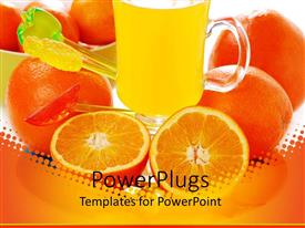 PPT theme having a combination of oranges and orange juices