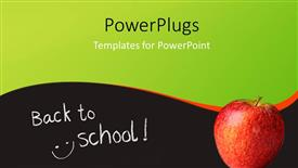 Amazing slides consisting of back to school depiction with red apple on surface