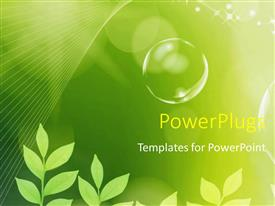 PPT layouts featuring the concept of greenery and bubbles