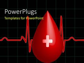 5000 import export powerpoint templates w import export themed presentation design having a drop of blood with a heartbeat line toneelgroepblik Image collections