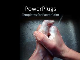 Elegant slides enhanced with concept of personal hygiene depicting hand wash