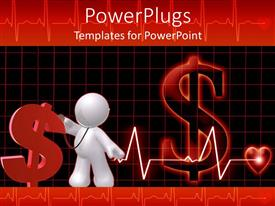 Healthcare ethics powerpoint templates crystalgraphics elegant theme enhanced with concept of public healthcare cost represented by red dollar sign with 3d template size elegant toneelgroepblik Image collections