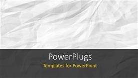 Colorful PPT theme having a plain abstract layout of a crumpled white colored paper.