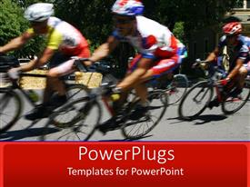 Beautiful presentation theme with cycling, racing, racers, bike, bicycle, sports, speed, riding