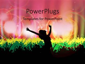 Presentation theme featuring dancing silhouettes with colored lights