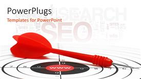 Beautiful PPT theme with an arrow with SEO related content