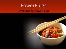 Theme enhanced with delicious Thai food and Thai cuisine over a black background