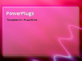 Powerpoint Template Depiction Of Moving Light Wave In Pink