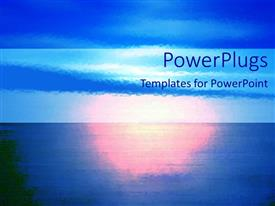 Audience pleasing PPT layouts featuring depiction of a plain blue background with sunset view