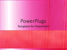Audience pleasing PPT layouts featuring depiction of a plain pink and white background board