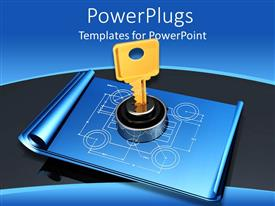 Amazing presentation design consisting of a design which is locked with the help of a key