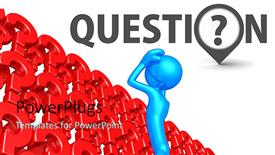 Beautiful theme with design of red color question marks on white background