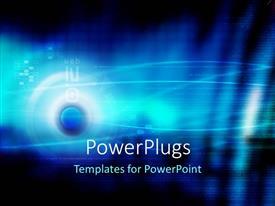 Amazing slide set consisting of digital depiction on blue background with blue sphere