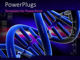 Audience pleasing slide set featuring digital depiction with close-up of DNA strand colored blue