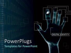 Beautiful PPT layouts with digital fingerprints