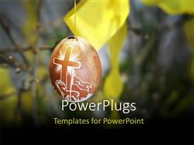 Beautiful presentation theme with an Easter egg with a blur background