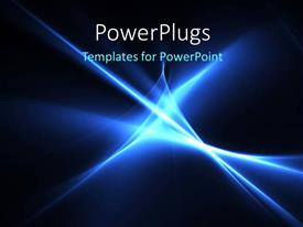 PPT layouts enhanced with electric blue color high energy streaks with black color