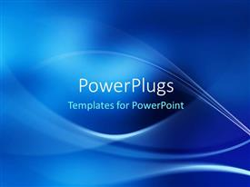 Elegant PPT layouts enhanced with electric blue wave patterns on cobalt background