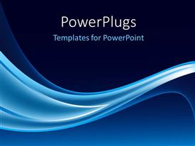 Amazing PPT theme consisting of electric blue waves on navy background
