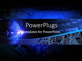 5000 electronics powerpoint templates w electronics themed backgrounds amazing presentation design consisting of electronic communication technology banner with earth and chip template size toneelgroepblik Choice Image