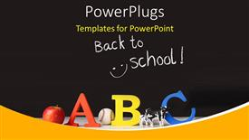 Beautiful PPT theme with elementary concept of ABC on a black background