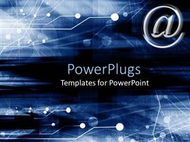 Beautiful PPT layouts with email symbol on a dark blue background