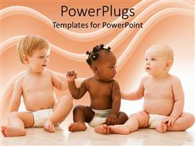 Presentation theme with equality diversity babies baby diapers  friendship  healthy babies  fairness rights