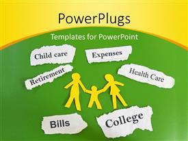 Elegant presentation theme enhanced with family health concept with keywords