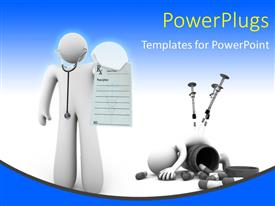 Top doctor powerpoint templates backgrounds slides and ppt themes presentation featuring a figure representing a doctor with bluish background template size toneelgroepblik Gallery