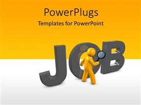 PPT layouts having a figure with the word job and place for text
