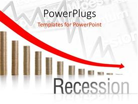 5000 depression powerpoint templates w depression themed backgrounds theme enhanced with financial crisis chart with depressing arrow over stacks of gold coin toneelgroepblik Gallery