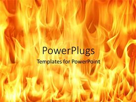 Presentation design consisting of fire and flames background